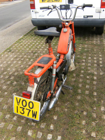 1981 BATAVUS GOGO 50cc SCOOTER/MOPED.12 MONTHS MOT. TRANSFERABLE NUMBER PLATE?