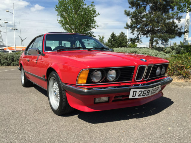 BMW 635 CSI AUTO RED E24  1987