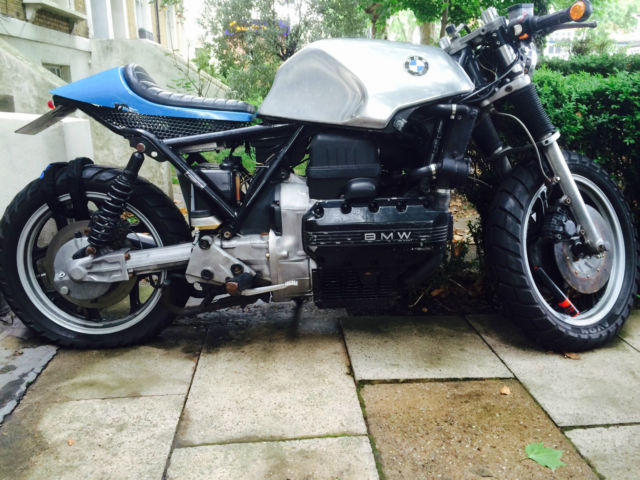 BMW K100 , Vintage eye catcher , silver tank cafe racer