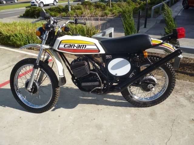 VERY RARE!!!!! Can-Am 250 Bombardier TnT 1976 Unrestored Motorcross Bike 1km OLD