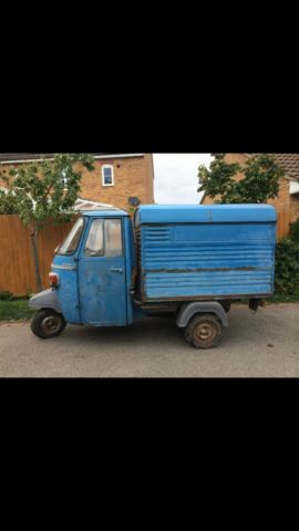 Piaggio ape Van 1963 with steering wheel