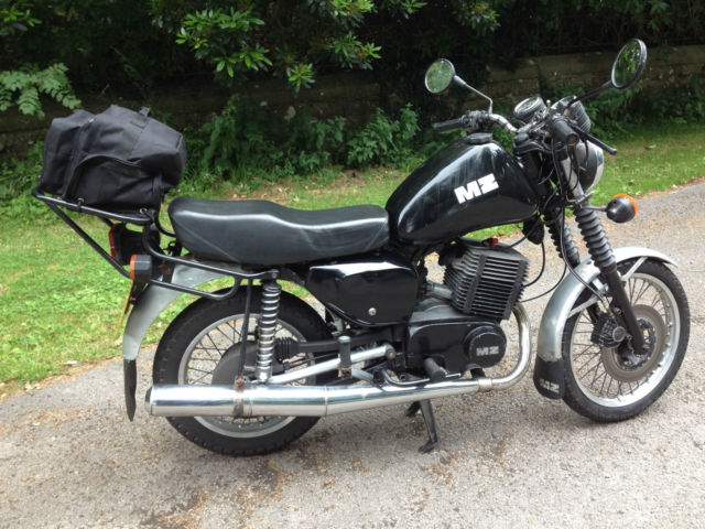 MZ ETZ 250 2-stroke motor cycle, black and silver