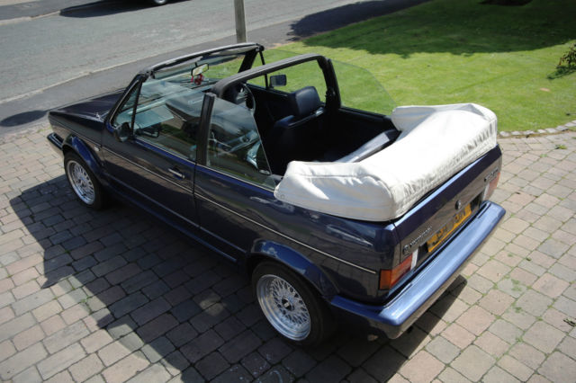 VW GOLF MK1 CABRIOLET - VERY ORIGINAL 1.8 GTI-1988 LEATHER SEATS