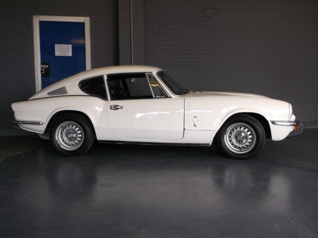 1972 TRIUMPH GT6 WHITE 2.5 injection TAX EXEMPT VGC