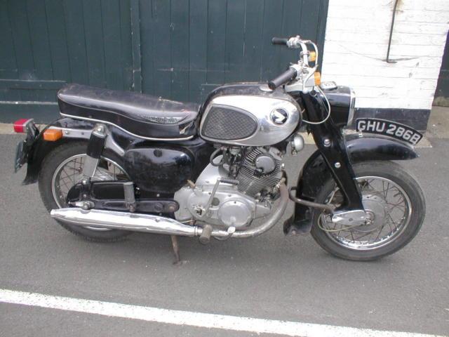 honda c72 1964 classic motorcycle-- plus spares.
