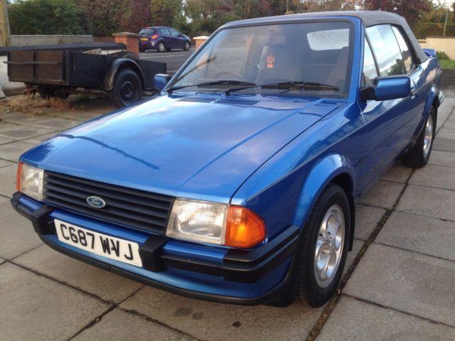 1986 ford escort mk3 XR3I