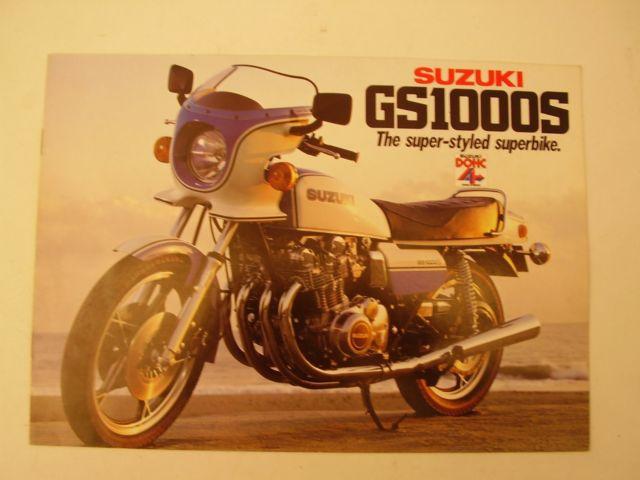 Suzuki GS1000S Sales Brochure