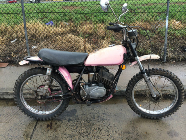 Kawasaki KV100 1976 G4 vintage trail enduro bike motorcycle collector project