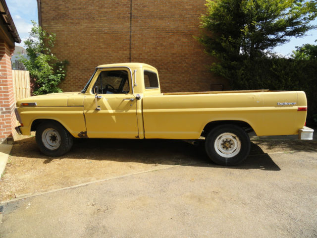 1972 Ford F250 Explorer. American Pickup. V8 Project. Spares or repair. Hotrod