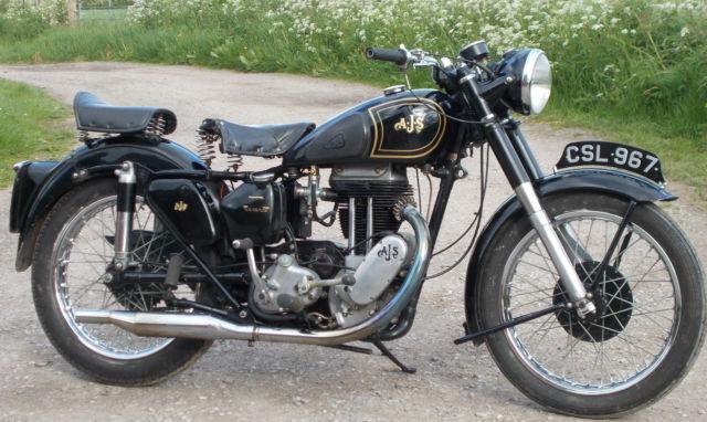 1949 AJS 18S, 500cc  lovely runner, candlestick model V5C