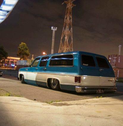 Chevrolet suburban/chopper,harley/slammed air bagged