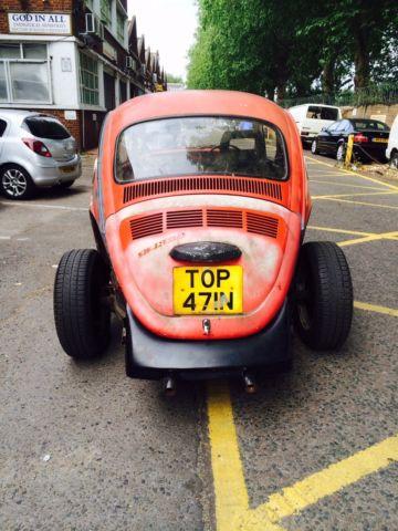 Vw beetle 1600 cc restoration project valuable number plate