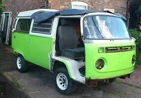 vw camper van 1979 green project.