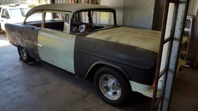 1955 Chevy 210 2-door post sedan - mid-restoration project