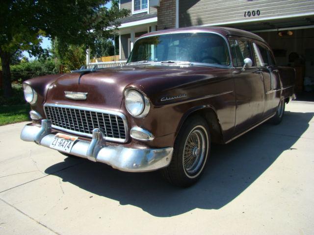 1955 CHEVROLET 210 V8 Manual amazing rust free body. Uk registered + MOT exempt