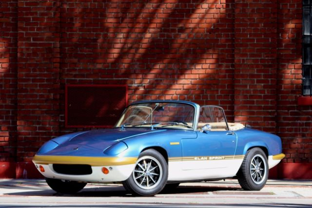 1969 Lotus Elan Sprint 5-Spec Roadster, Rebuilt and Restored.