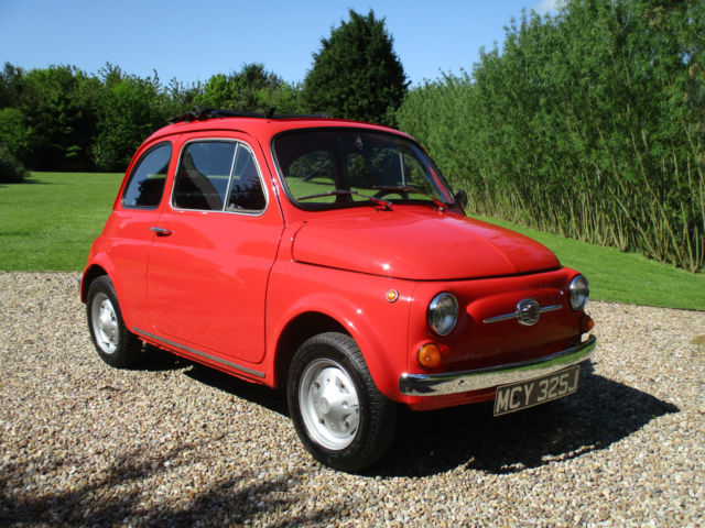 Fiat 500 F -round speedo model -Restored condition