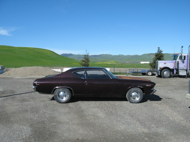 69 Chevelle fast, pumped 427, 4 speed, custom inter, needs paint with or without