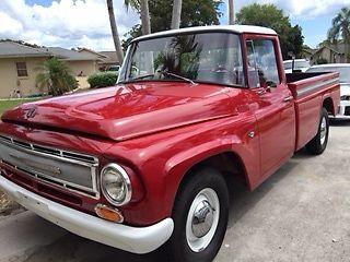 1967 International 1100B Red Pickup V8 304 Engine Longbed 4 Speed