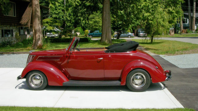 1937 Ford Club Cabriolet Convertible Street Rod, Steel Body