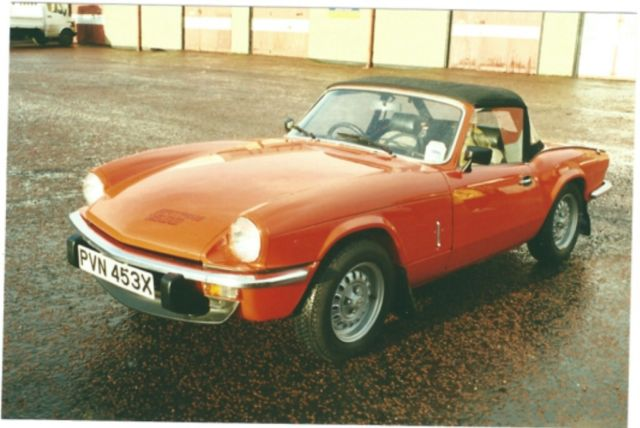 Triumph Spitfire 1500 X reg (1981). 48K miles - immaculate condition