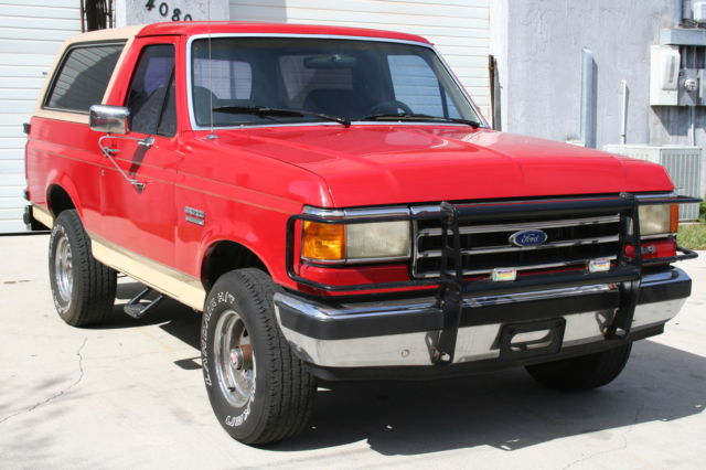 1989 Ford Bronco 4x4 Eddie Bauer Edition