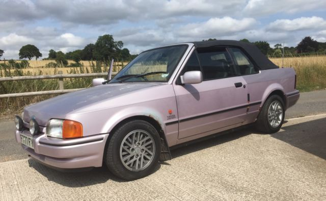 XR3i CABRIOLET RECAROS DRIVES WITH NO FAULTS PROJECT RARE 1989 52000 MILES