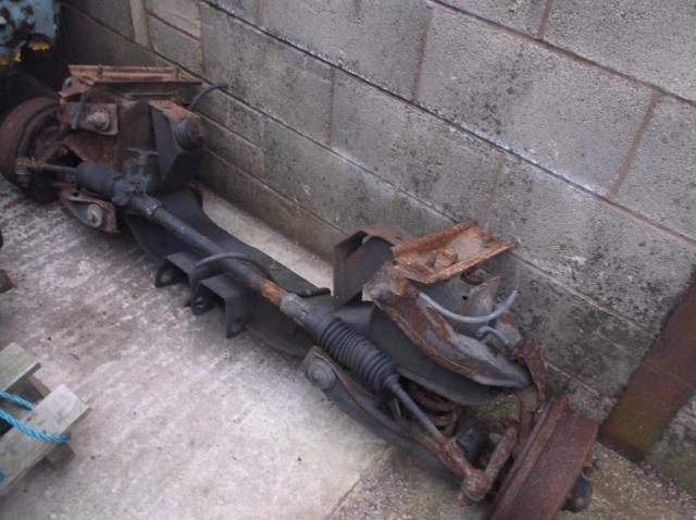 BEDFORD  CF VAN CAMPER RUNNING GEAR FRONT AND REAR AXLES WITH V5C
