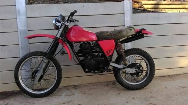 1981 Kawasaki KL250 + parts Bike Custom Cafe Flat Tracker VMX