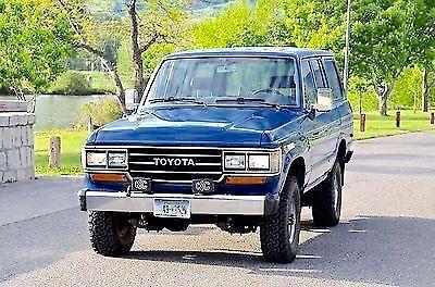 1988 Toyota Land Cruiser FJ62 4x4! Rare Blue! Only 134K Miles!!! For