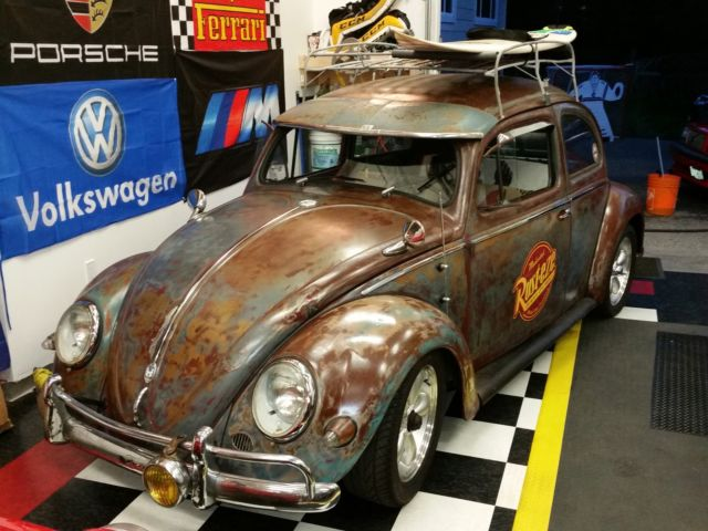 1956 VW BUG BEETLE PATINA OVAL RATROD