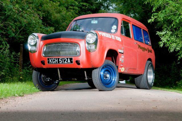 Ford 100e escort estate - gasser - hot rod - drag car - road legal - V8