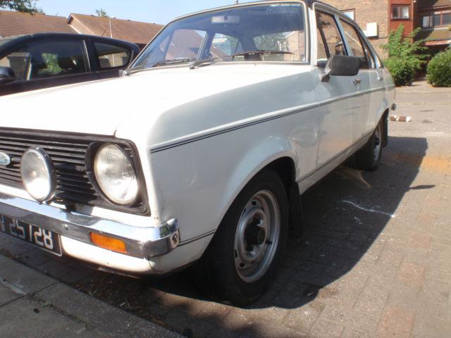 1978 FORD ESCORT L WHITE A 4 DOOR 1600 SPORT,,,UK RHD 12 MONTH MOT, NOT MEXICO