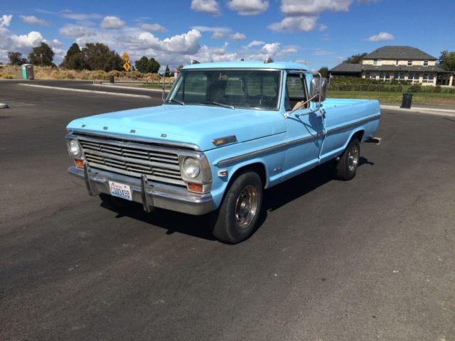 68 Ford Truck F-250 Custom Cab Camper Special 390 Edelbrock NR NO RESERVE Nice!!