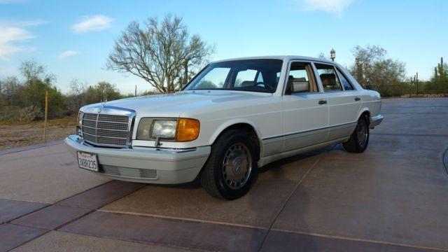 1990 Mercedes 560 SEL 67k mi White on Palomino!!