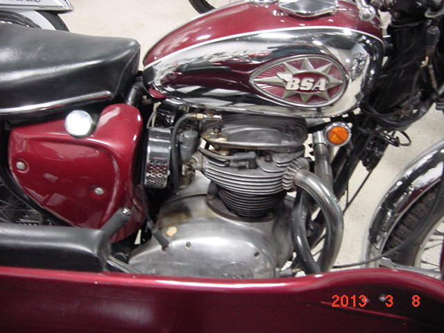 1968 BSA motorcycle with Cosy sidecar