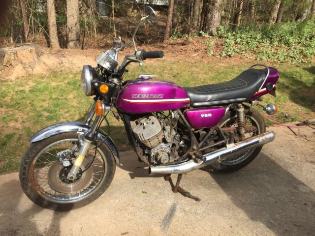 1973 Kawasaki H2 750 triple Purple
