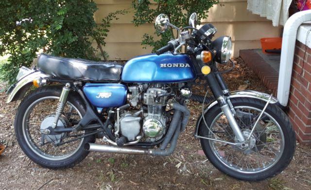 1973 Honda CB350F Blue