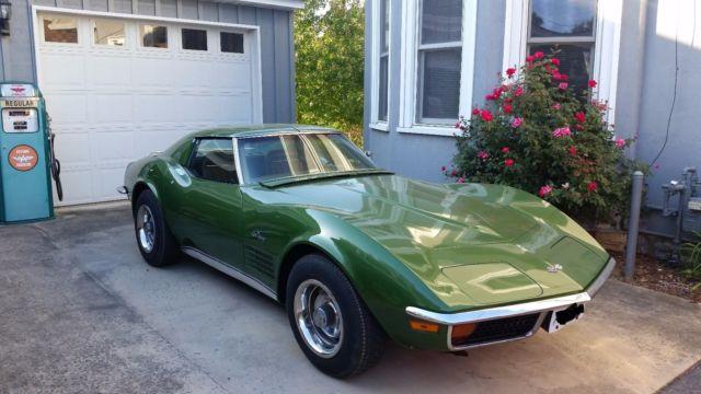 1972 Stingray Corvette Numbers Matching Car