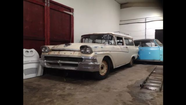 1958 FORD RANCH WAGON CLASSIC AMERICAN/PROJECT/RESTORATION/PARTS GALAXY,FAIRLINE