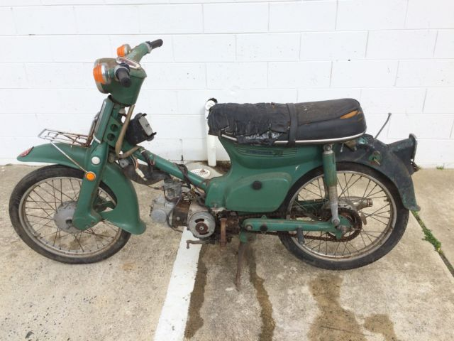 HONDA C70 SCOOTER BARN FIND CLASSIC PROJECT