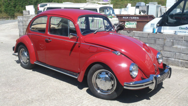1967 Volkswagen Beetle Red Rhd