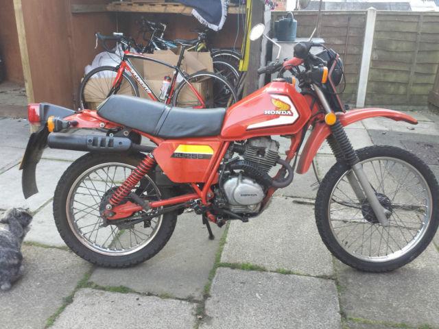 Honda 125 XL Twin shock