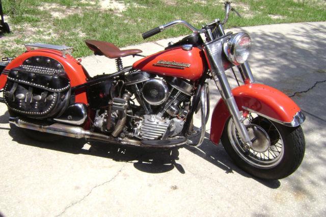 1951 Harley Davidson Panhead El ex police bike - 1 owner for LONG time