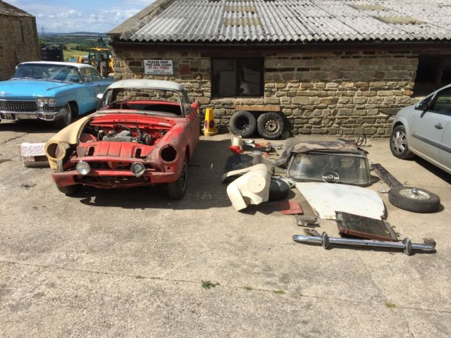 1960 SUNBEAM ALPINE BIG FIN SERIES 1 PROJECT TIGER VERY RARE REAL GARAGE FIND