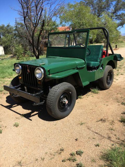1945 Willy's M38 Jeep Restored MC, CJ2A Military Jeep 1952