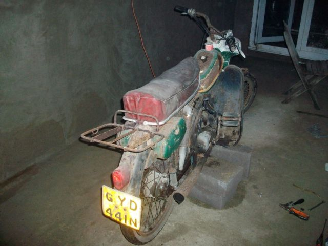 puch moped ms50d RUNNING project with logbook,barn find can