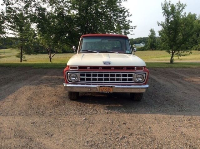 1965 F100 camper special,352c.i.,3speed auto,8 foot box with factory storage