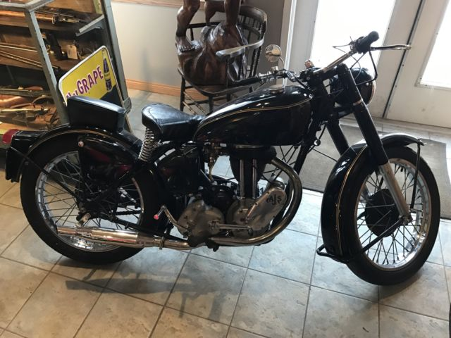 1948 AJS Model 16M 350cc, lovely motorcycle. Older restoration
