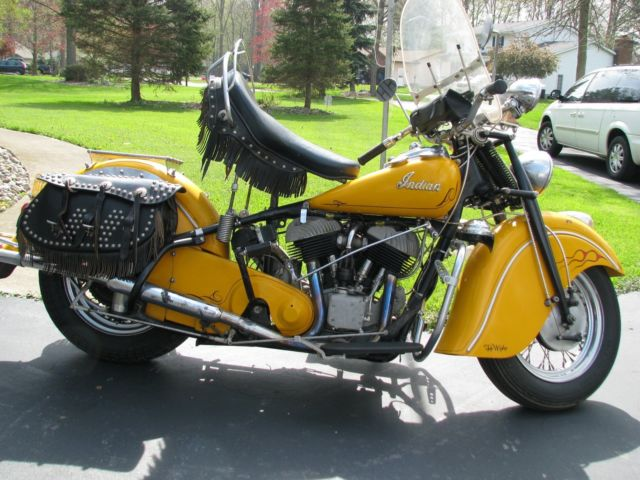 1948 Indian Chief Motorcycle 100 percent rebuilt